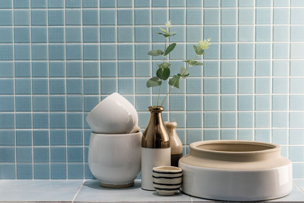 Get creative: how to design with bathroom tiles
